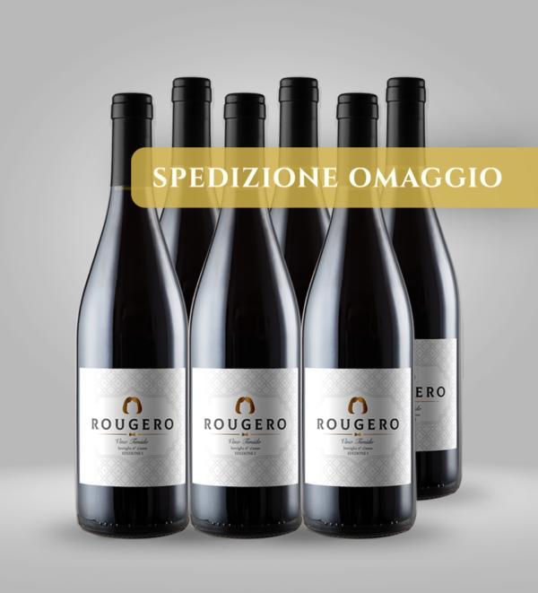 rougero vino timido confezione da 6 bottiglie